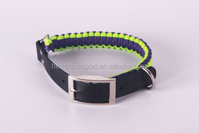 New premium solid pet products weaving dog collar