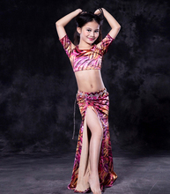 RT133 Wuchieal Printed Cloth Children Belly Training Dance Costume