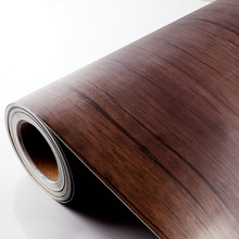 Self Adhesive Wooden Grain Vinyl wall paper Film Wrapping paper Laminated paper for Kitchen Cabinet