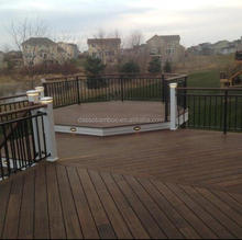 European standard certified outdoor decking bamboo tiles with bamboo material