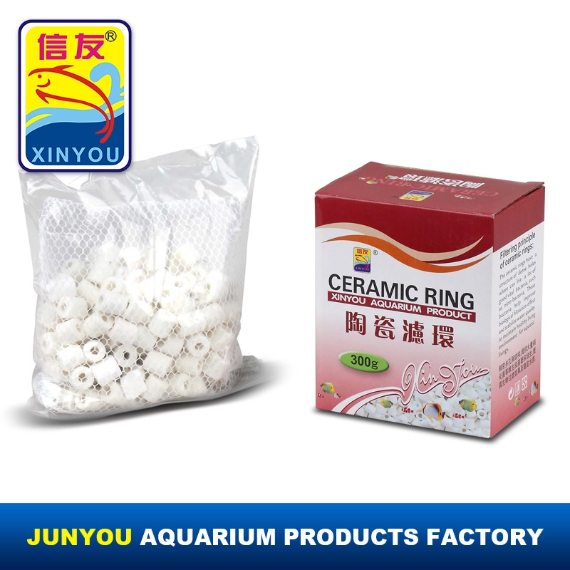 XINYOU aquarium ceramic ring for porous ceramic water filter, ceramic media, aquarium products in box