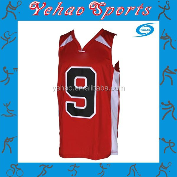 Team Red Basketball Sport Wear china made basketball jersey