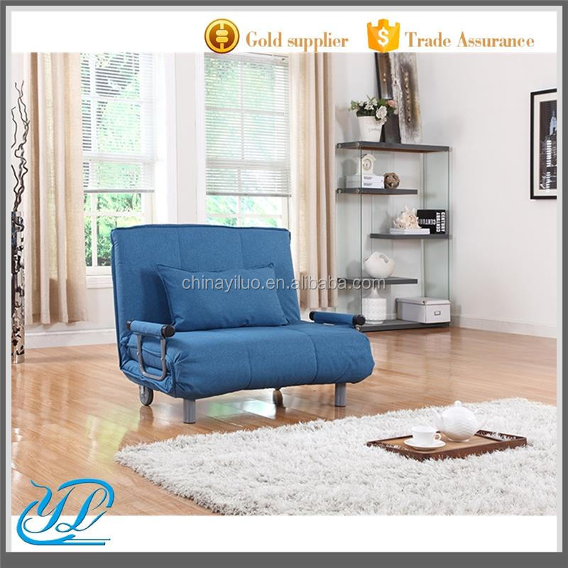 YLCT015 Wholesale Foam Folding Sofa Metal Bed with Wheels