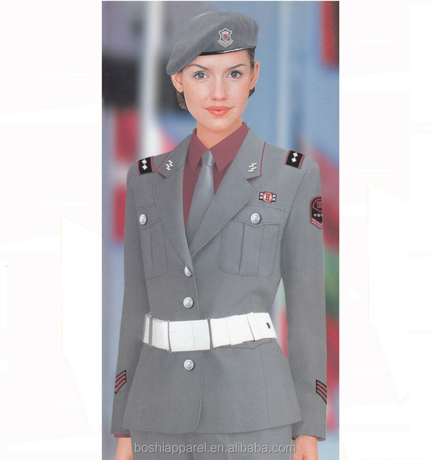 New style office Security guards uniforms design for women/ladies