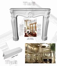 Polyurethane Ornaments High Density Beautiful PU Decorative indoor corner fireplaces