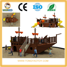 Cheap Outdoor Children Wooden Pirate Ship Playground