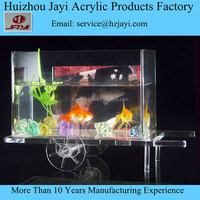 JYF-007acrylic table glass aquarium fish tank/office table fish aquarium