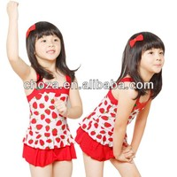 C52536S HOT SALE NEW DESIGN FASHION STRAWBERRY PRINTED CHILDREN SWIMSUITS
