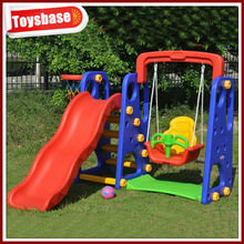 Outdoor kids swing and slide