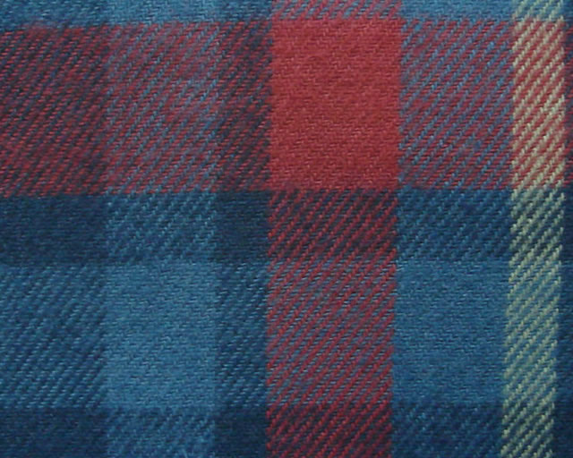100% COTTON, YARN DYED TWILL WEAVE COLOUR CHECK FABRIC