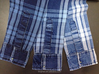 hot sale slub colored cotton check shirt fabric price