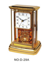 ornate golden pendulum swivel gorgeous swing clock with music and light