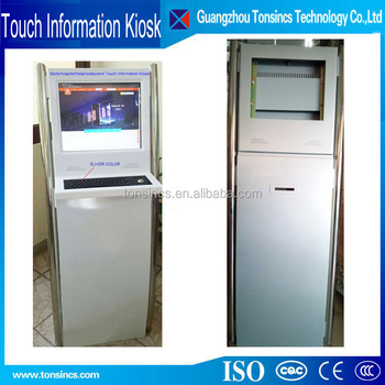 Tonsincs 17/19 inch Hotel /Bank /Hospital/ Touch Screen Information Kiosk with Key board