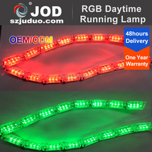 New Design SMD Flexible LED DRL Strips Switchback DRL Turn Signal Light RGB