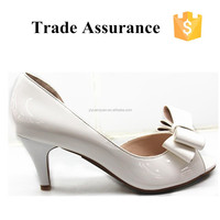 White butterfly lady nice PU sandals free sample