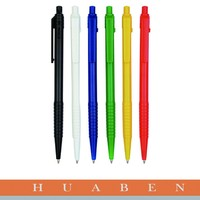 Huaben new product Customized Printed Promotional Plastic Ball Pen