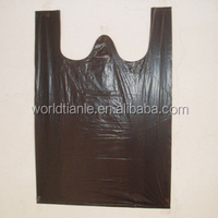 Popular sale custom printing plastic shopping t shirt bags on rolls for shopping