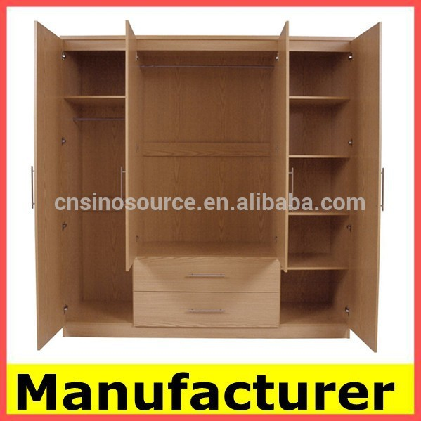 Bedroom Furniture Almirah wholesale wooden almirah designs in bedroom wall china