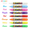 CHALK MARKERS 8 Pen Set & 24 Chalkboard-Style Stickers - Use on Menu Board, Bistro Boards, Windows, Kids Activities