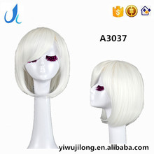 AD3037 Wig Cosplay Hokage Ninjia Short silver white cosplay wigs