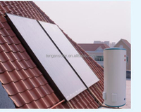Flat plate panel solar water heater solar collector