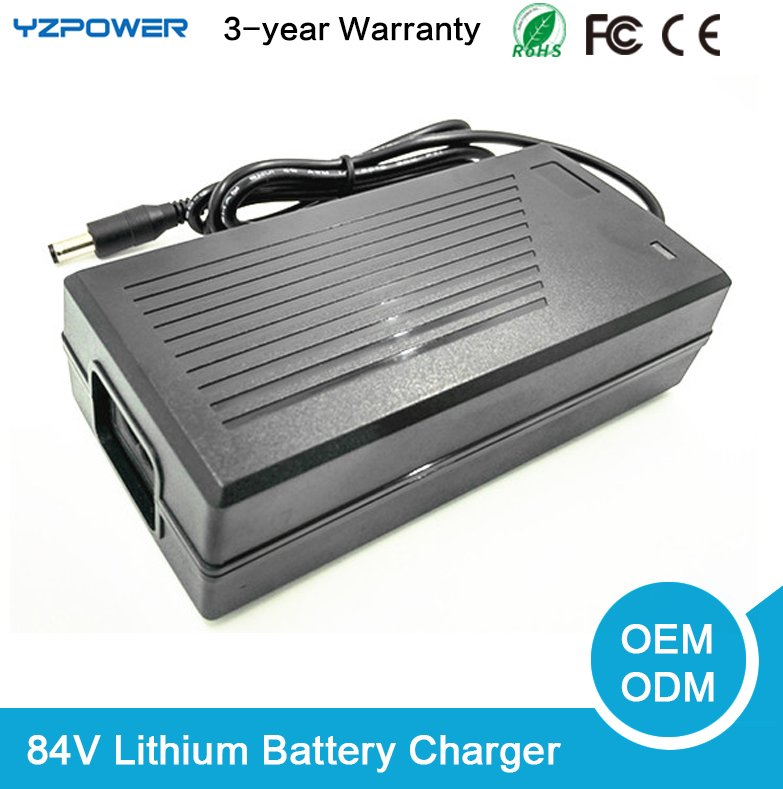 84V Universal lithium battery charger for scooter electric 72 volt with Fan
