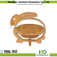 Gold supplier china rabbit shape Bamboo Basket For Food&Fruit