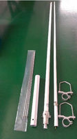 Antenna Manufacturer 3.2M Repeater VHF UHF or dual band Fiberglass Antenna TC-CST-134-6.8-F22