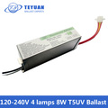 120-240v 4 lamps t5uv 8w multy voltage small size electronic ballast
