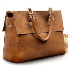 zm20231a temperament retro leather design women bags Europe and the United States style lady hand bag