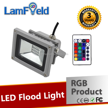 Multicolor Decoration Ip65 Waterproof 10w Rgb Led Flood Light With ...