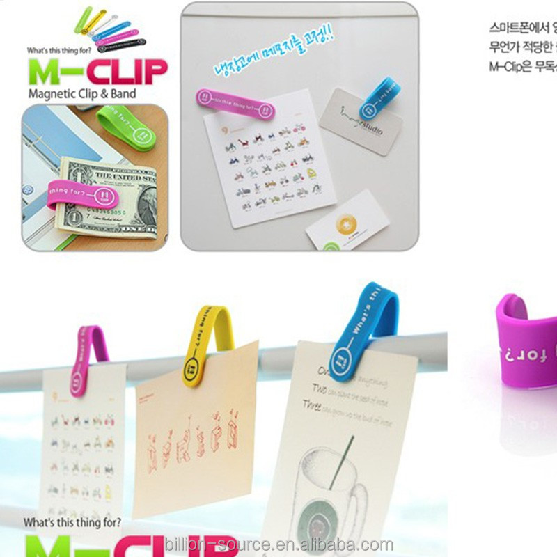 Promotion gift merry christmas silicone foldable memo magnet clips
