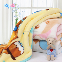100% Polyester supersoft Raschel Baby Blanket
