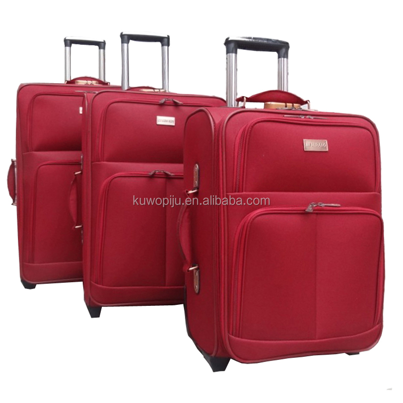 3pc Expandable EVA trolley polyester 600d denier two wheels citi trends luggage set