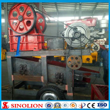 Diesel engine mobile crushing and screening plant price