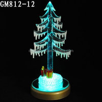 Small Glass Material LED Christmas Tree