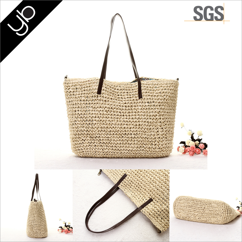 hand made summer straw beach bag wanggol weave bag
