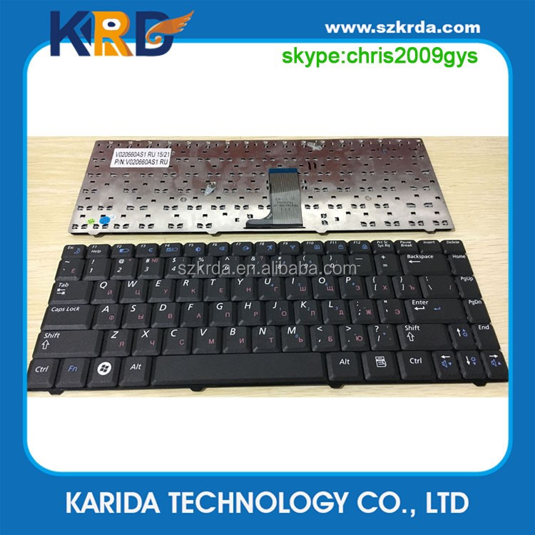 New laptop notebook keyboard RU layout for Samsung R519 R518 R517 Black