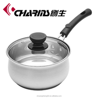 Charms stainless steel double wall milk pot
