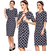 Cotton Party Maternity Clothes for Pregnant Women Breastfeeding Nursing Dress