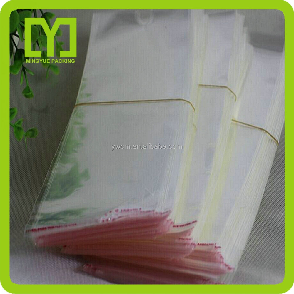 2015Alibaba China free samples new products fashion bopp plastic bags small decorative closeout