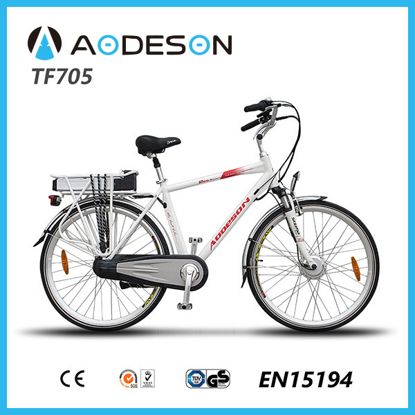 "hot seller!28""e-bike TF705 for man with 36v/10ah battery and 250w brushless motor"