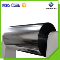 8 micron VMPET, 20 mic MCPP film roll, 150 um silver mirror film from Wenzhou metalized factory