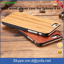 new products luxury real bamboo case phone cover flip cover for iphone 6 6s 6plus 6s plus for Samsung