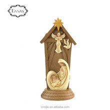 China supplier resin decoration figurine Mary / baby in church