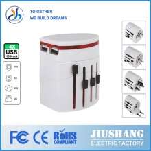 Universal Worldwide Separable 2 USB Travel Adapter USB With Universal Plugs and Socket