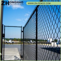 CE Certificated Professional Wrought Iron Fence Chain Link Fence