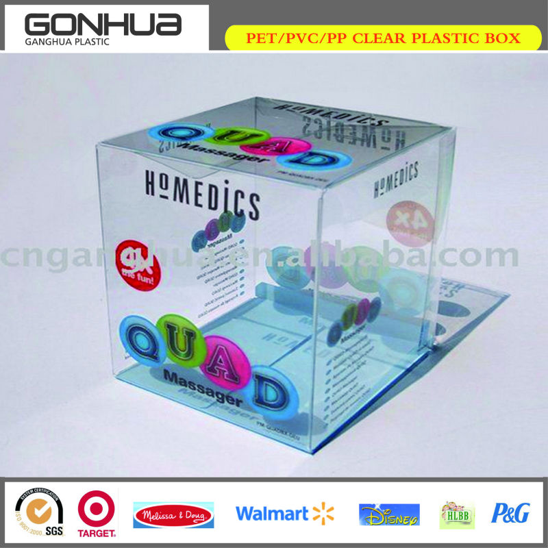 Wholesale cheap new custom printed square clear plastic pvc gifts box for candy