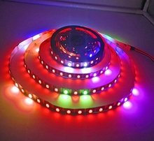 New 5V WS2813 Dual data New Ver. WS2812B 5050 RGB LED Strip 5M 60pixels/M IP67 5V BK