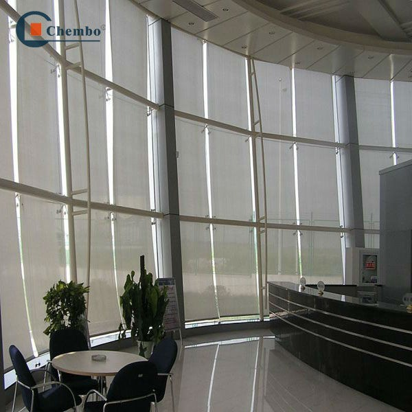 automatic motorized fire retardant blackout roller blinds